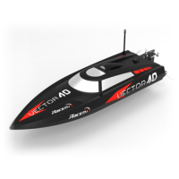 Vector 40(cm) High speed racing boat ABS Unibody made